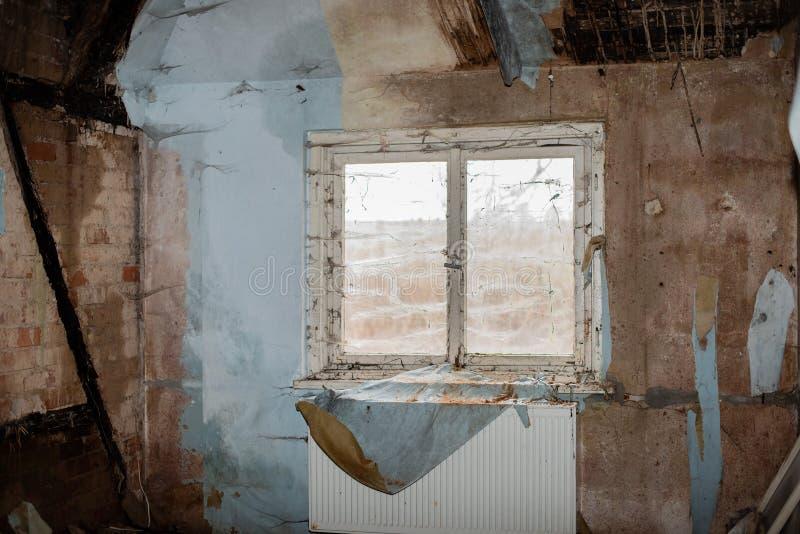 Przegranego miejsca stary budynek przed gniciem fotografia royalty free