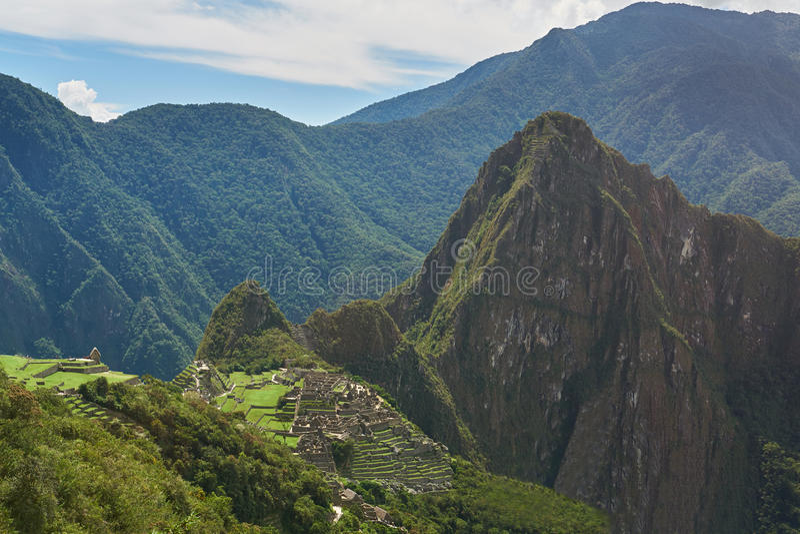 Przegrany inka grodzki Mach Picchu zdjęcia stock
