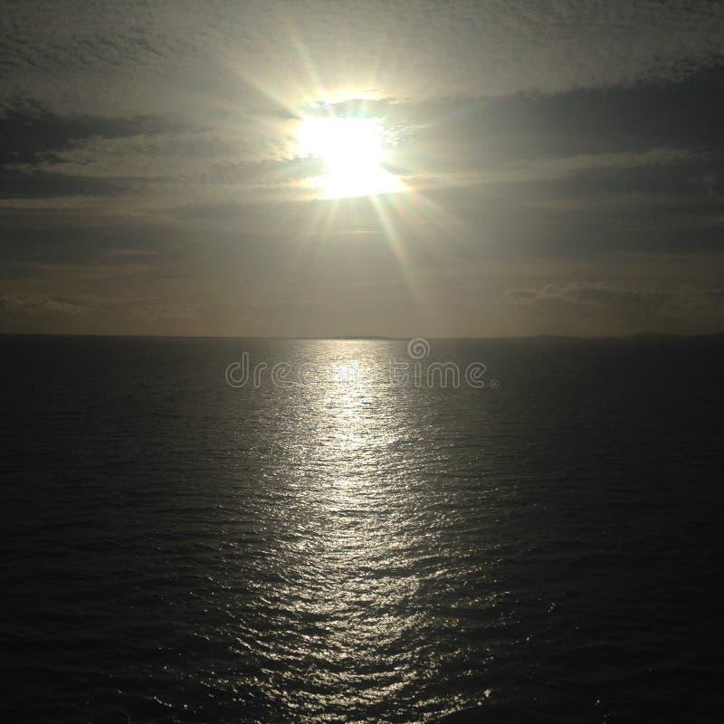 Przegrany słońce zdjęcie royalty free