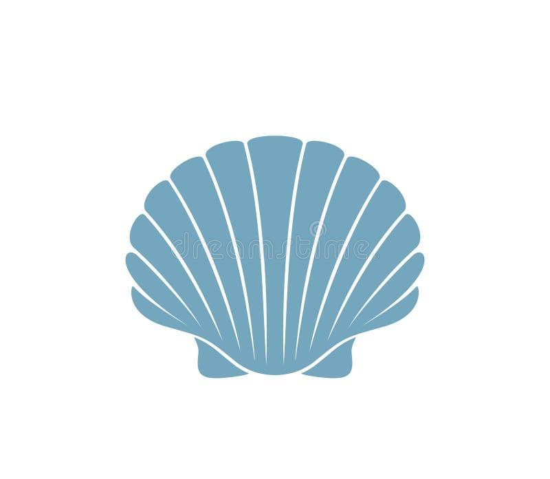 Przegrzebka logo Odosobniony przegrzebek na białym tle ilustracji