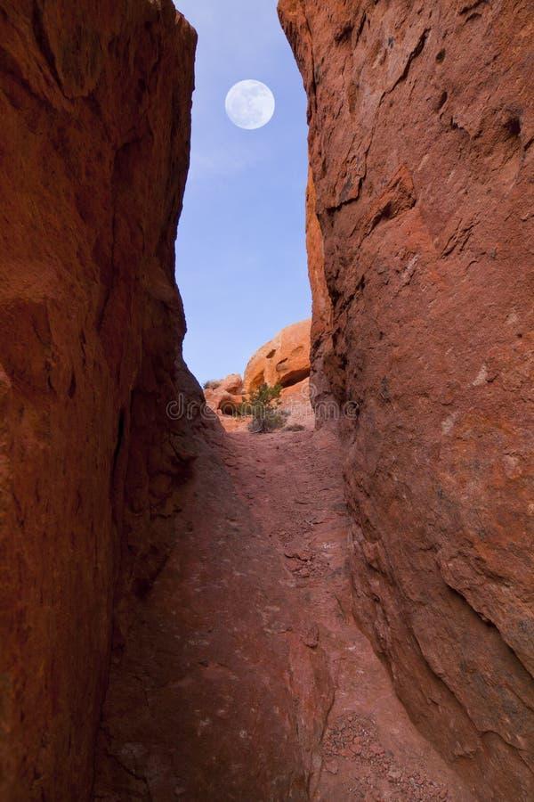 przejścia czerwieni skała zdjęcie stock
