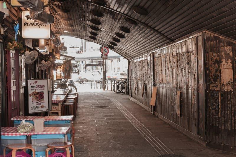 Przejścia podziemnego Yurakucho Concourse pod linią kolejową stat obrazy royalty free
