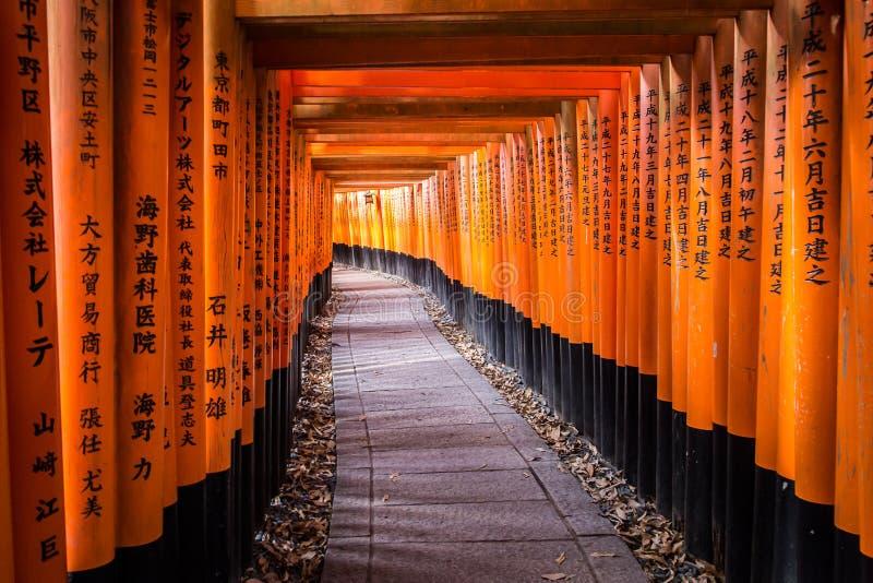 Przejście ścieżka w Fushimi inari, Kyoto, Japonia obrazy royalty free