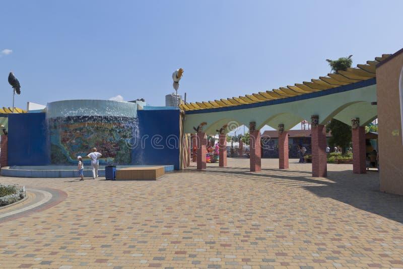 Przejście biletowy biuro wodny parkowy ` Tak ` w wiosce Dzhemete, Anapa zdjęcia royalty free