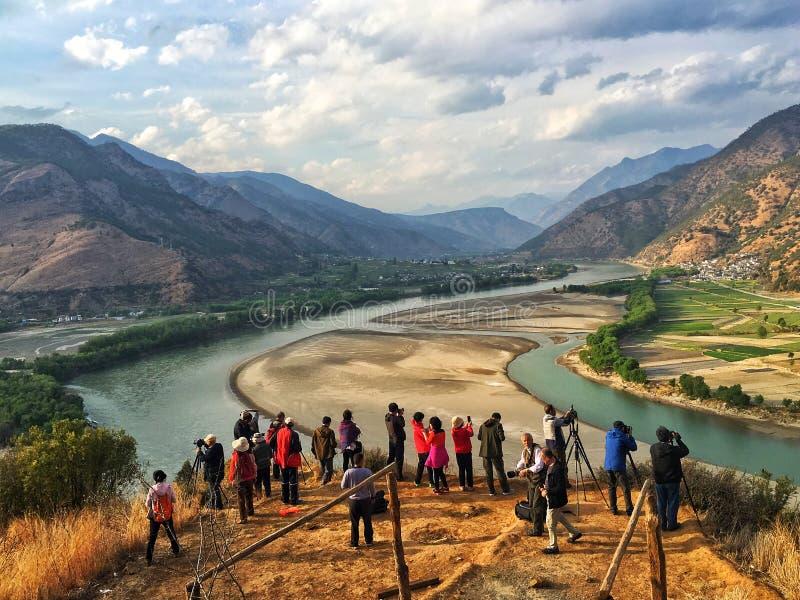 Przejście jangcy w Yunnan prowincji, Chiny obraz royalty free