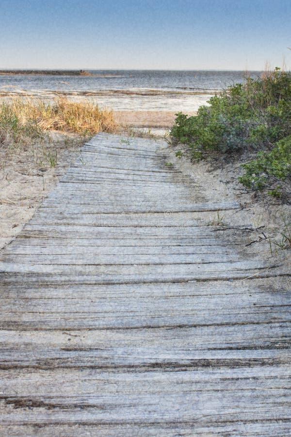 przejście na plażę drewniane obraz stock
