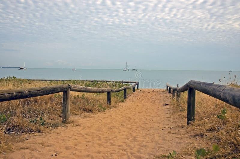 Przejście plaża, Darwin, Australia obrazy stock