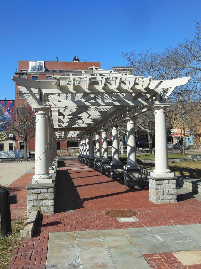 Przejście przy pamiątkowym placem w Nowym Bedford, Massachusetts zdjęcia royalty free