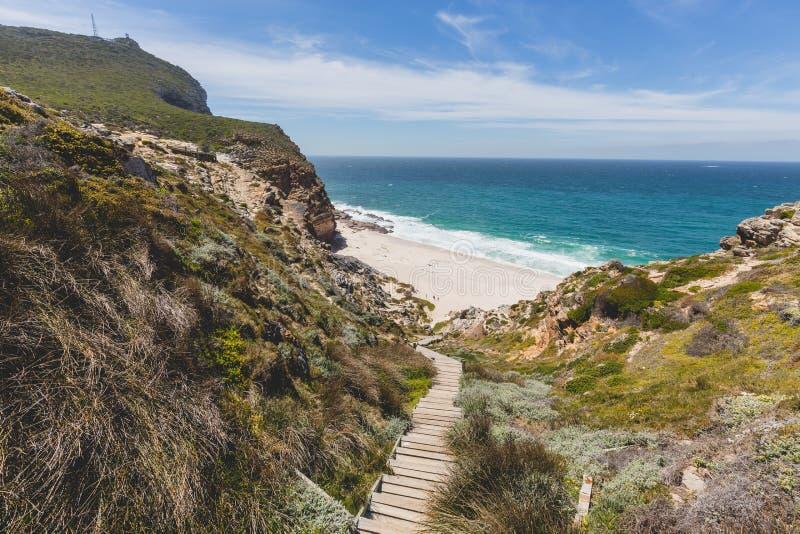 Przejście puszek Diaz plaża przy przylądka punktem zdjęcie royalty free