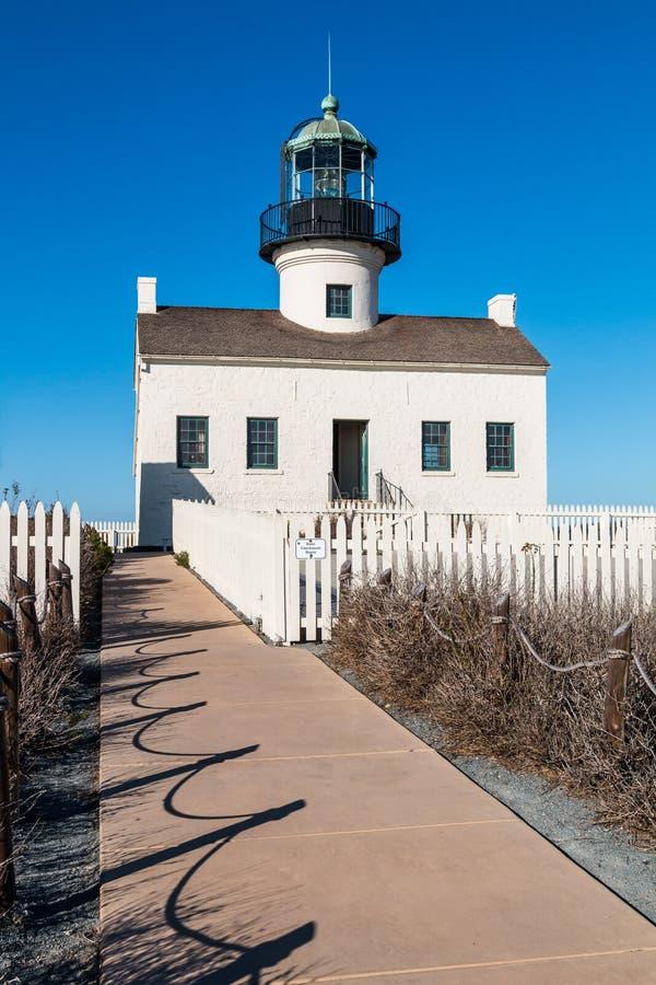 Przejście Stara point loma latarnia morska zdjęcia stock