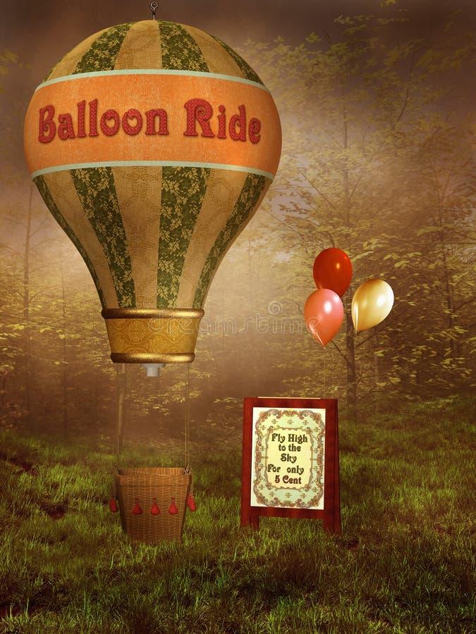 przejażdżka balonowy wiktoriański royalty ilustracja