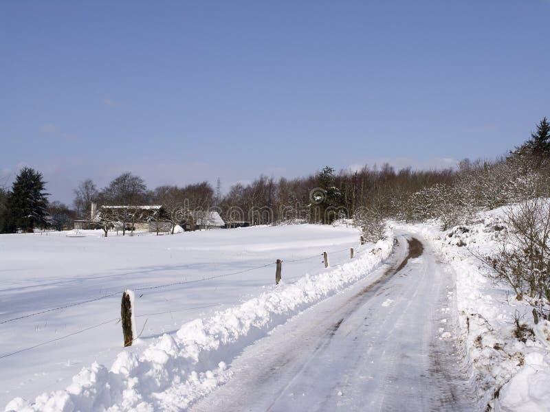 Przejazd Krajobrazowa Zimy. Zdjęcie Stock