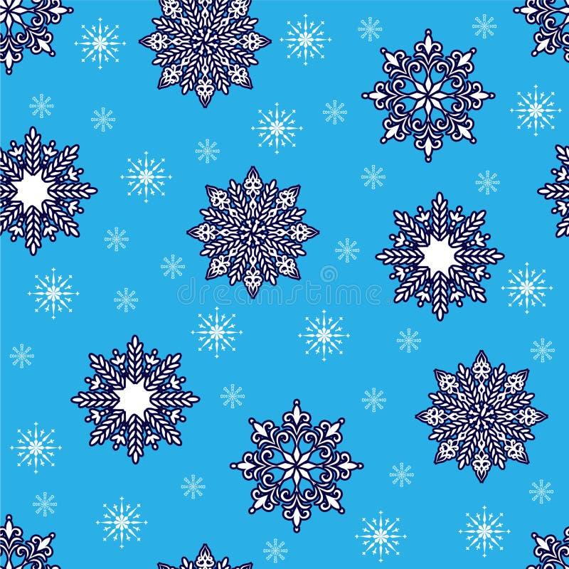 przejazd tła zimy śniegu ilustracja wektor