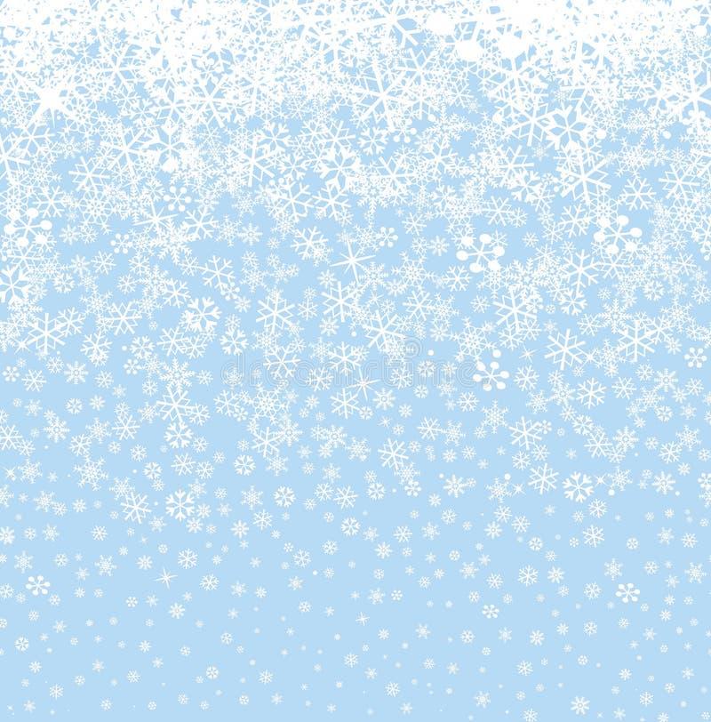 przejazd tła zimy śniegu deseniowi bezszwowi płatek śniegu Zimy śnieżny seaml ilustracja wektor