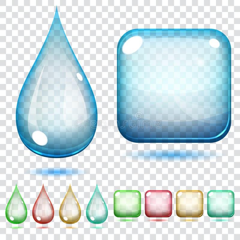 Przejrzyści szkło kształty ilustracja wektor