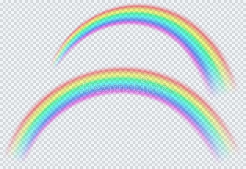 Przejrzysta barwiona t?cza, ?uk okr?g Po podeszczowego symbolu natura royalty ilustracja