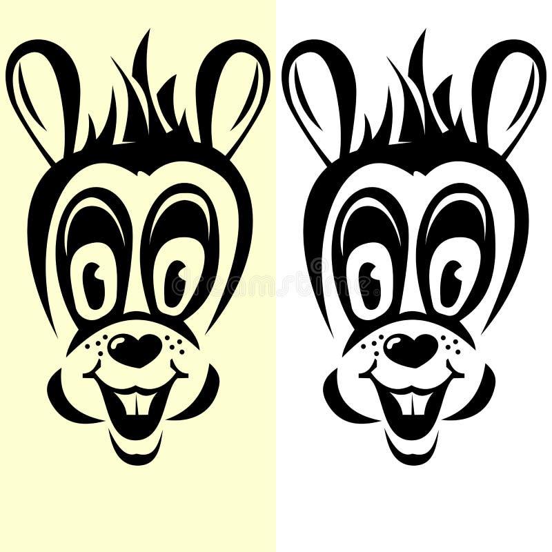 Przejrzysta kreskówka królika sylwetka royalty ilustracja