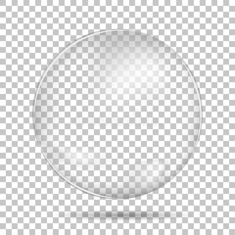 Przejrzysta kropla z cieniem ilustracji