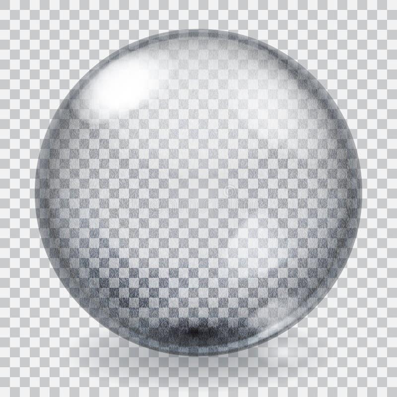 Przejrzysta szklana sfera z narysami ilustracja wektor