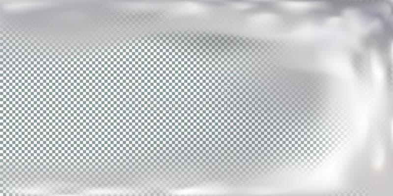 Przejrzysta tło mgła lub dym, pętla Odosobniony skutek, chmura dla dekoracji ilustracja wektor
