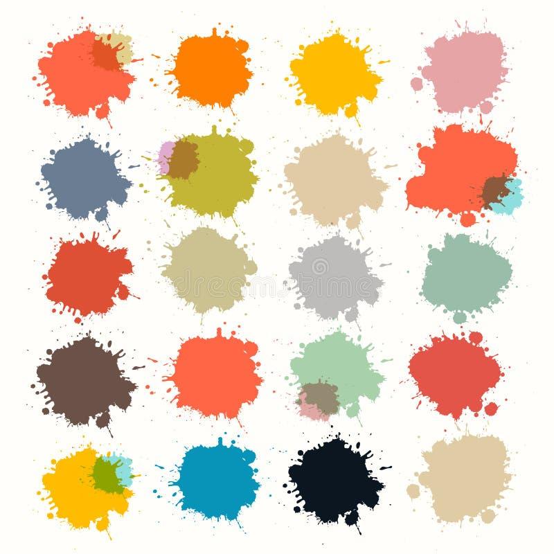 Przejrzyste Kolorowe Retro wektor plamy, kleksy ilustracja wektor