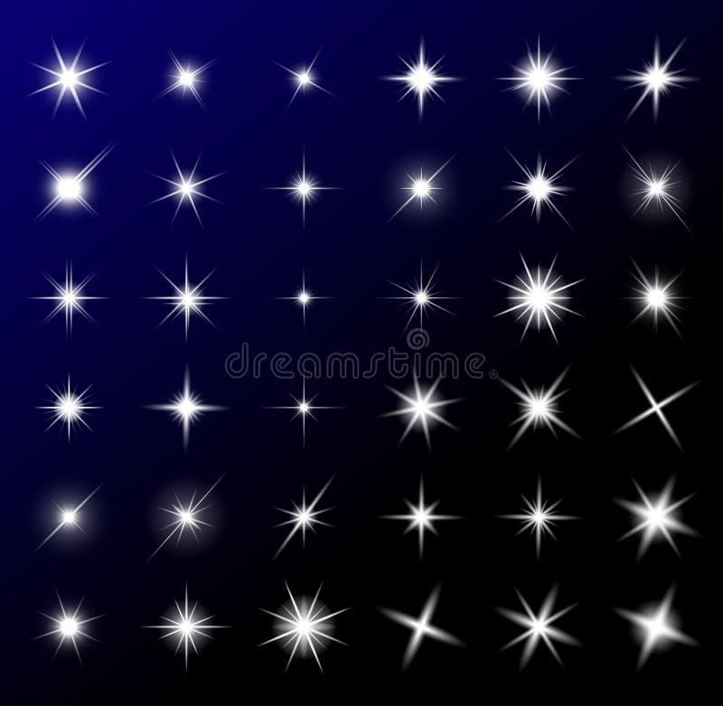 Przejrzysty gwiazdowy wektorowy symbol ikony projekt Piękny illustrati ilustracja wektor