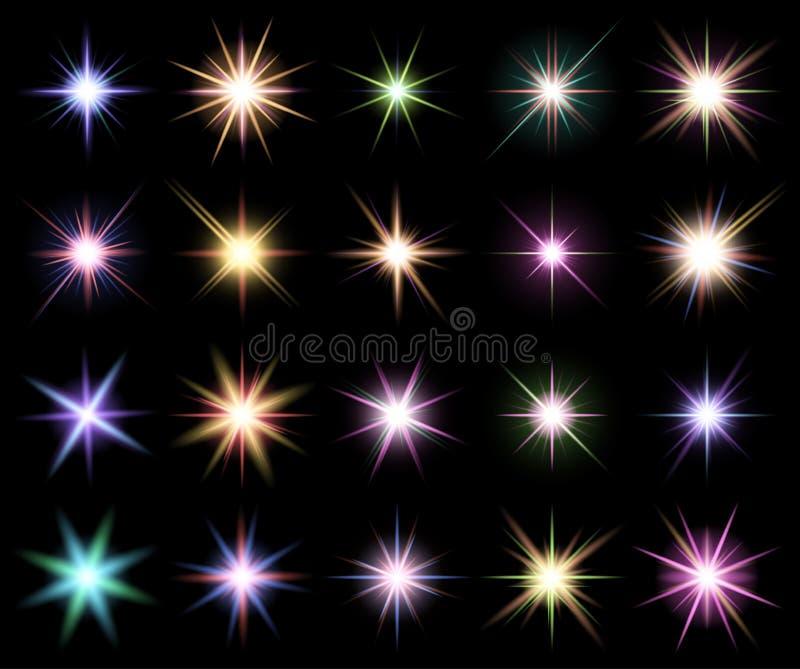 Przejrzysty gwiazdowy wektorowy symbol ikony projekt Piękny illustrati ilustracji