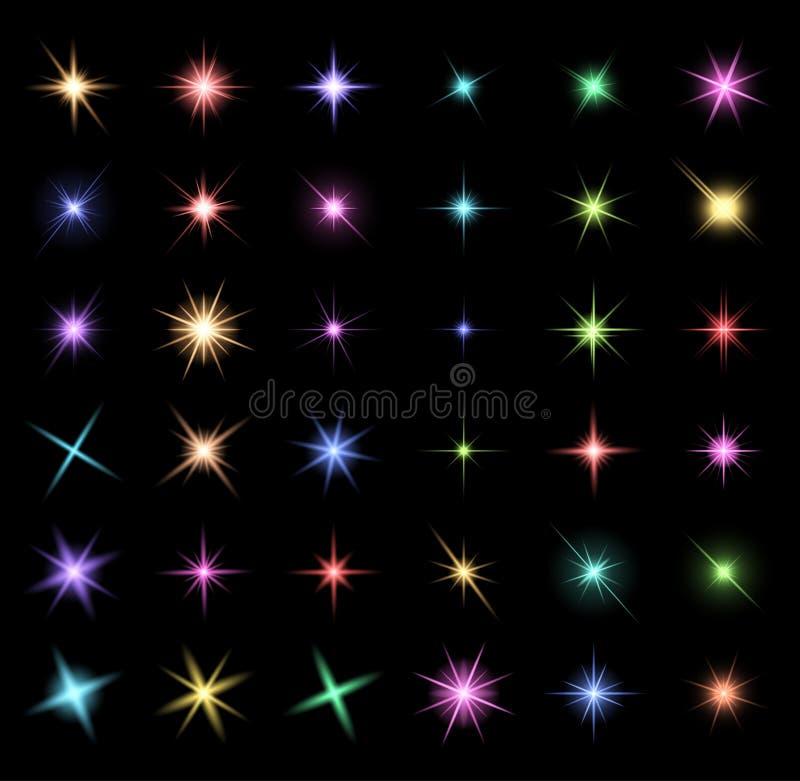 Przejrzysty gwiazdowy wektorowy symbol ikony projekt Piękny illustrati royalty ilustracja