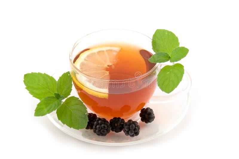 przejrzysty herbaciany teacup zdjęcia stock
