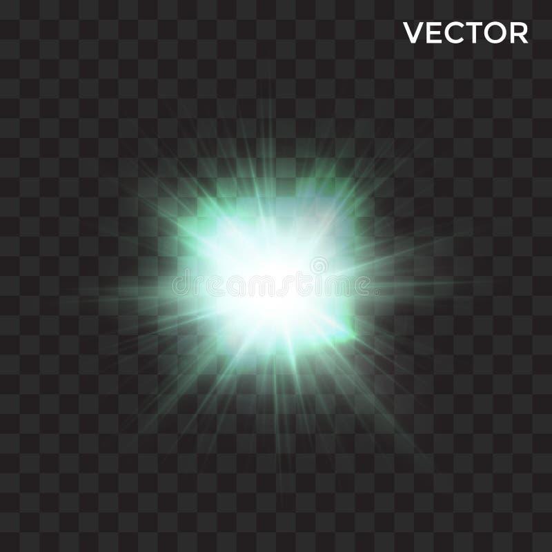Przejrzysty magia błysku światło ilustracja wektor