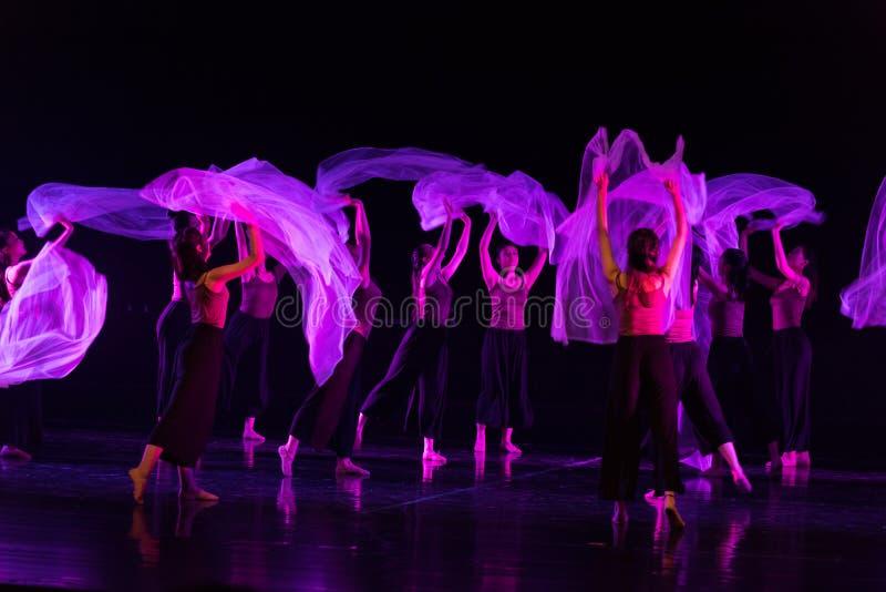 Przejrzysty szalika taniec 3--Tana dramata osioł dostaje wodnym zdjęcie stock
