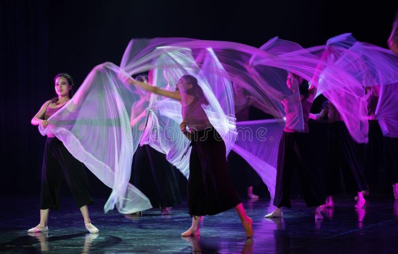 Przejrzysty szalika taniec 4--Tana dramata osioł dostaje wodnym obraz stock