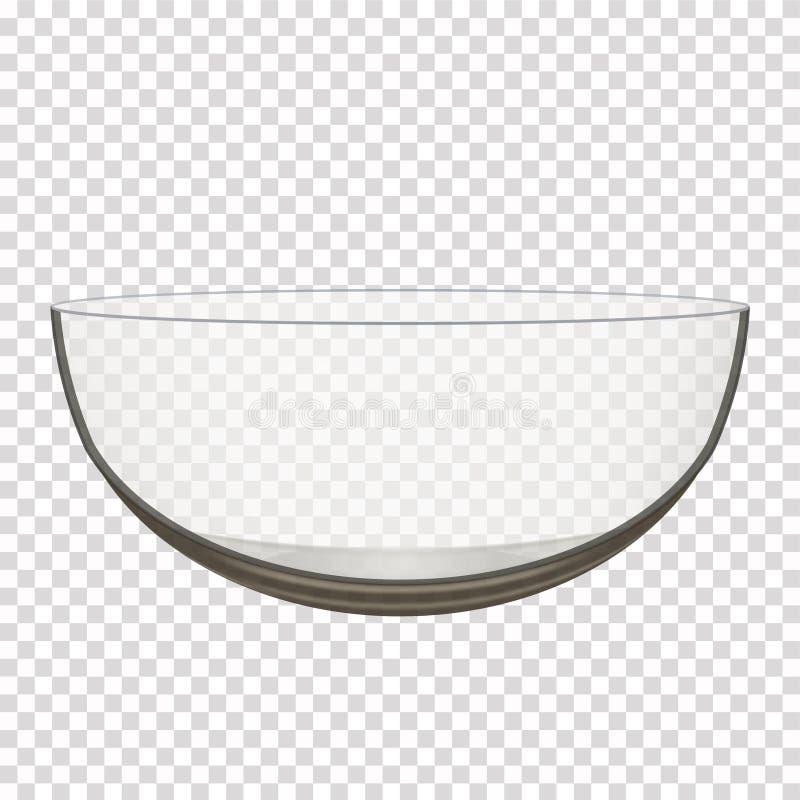 Przejrzysty szklany puchar ilustracja wektor