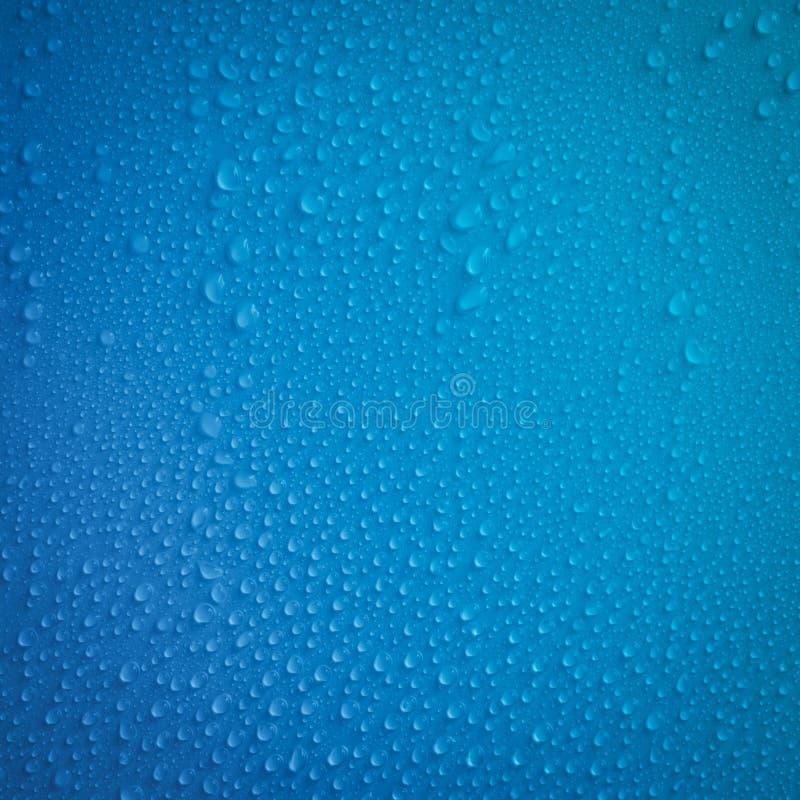 Przejrzysty waterdrop, Raindrops lub opary na stałych tło zdjęcia stock