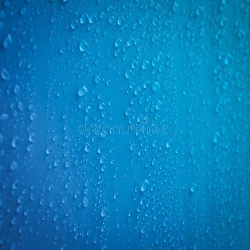 Przejrzysty waterdrop, Raindrops lub opary na stałych tło obrazy stock