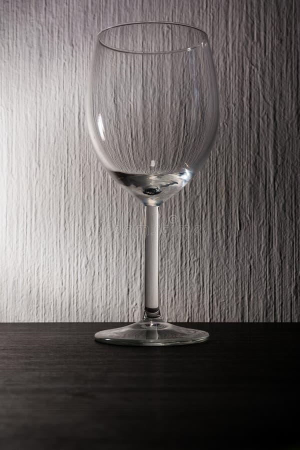Przejrzysty wina szkła tekstury tła błysku czerni biel obraz royalty free