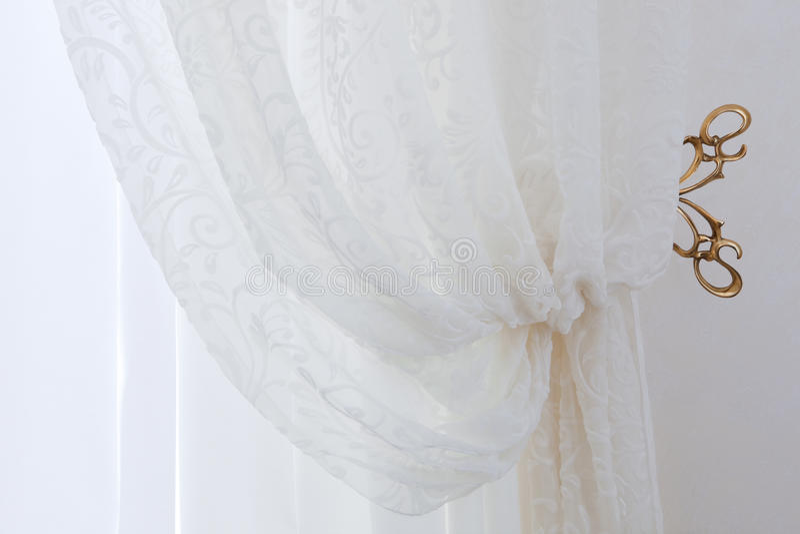 przejrzysty zasłona biel zdjęcia royalty free