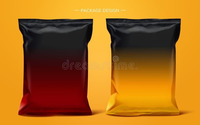 Przekąski folii torby pakunek royalty ilustracja