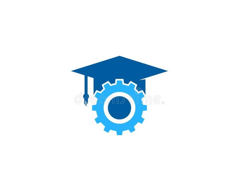 Przekładni edukaci ikony loga projekta Narzędziowy element royalty ilustracja