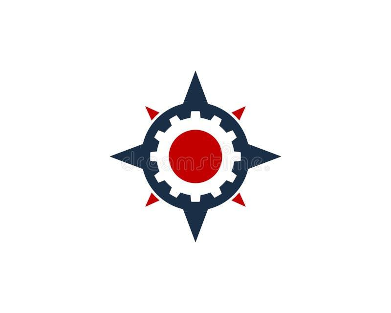 Przekładni ikony loga projekta Narzędziowy Cyrklowy element ilustracja wektor