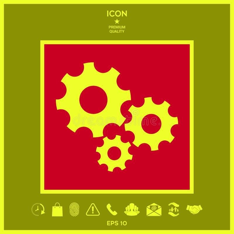 Przekładni koło - położenie ikona royalty ilustracja