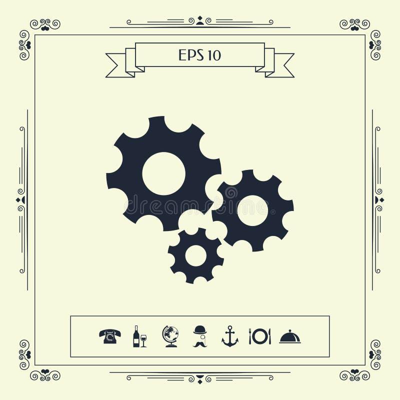 Przekładni koło - położenie ikona ilustracji
