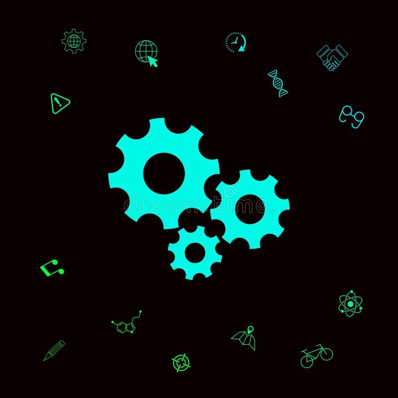 Przekładni koło - położenie ikona Graficzni elementy dla twój designt ilustracja wektor