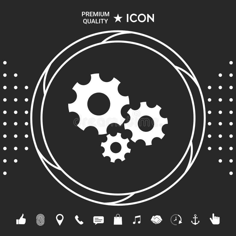 Przekładni koło - położenie ikona Graficzni elementy dla twój designt ilustracji