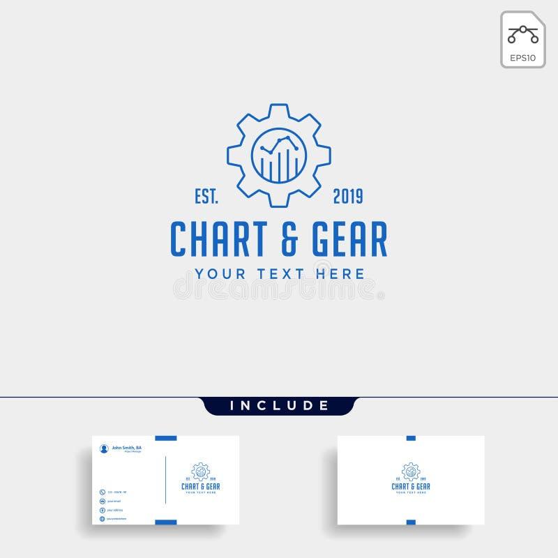 przekładni mapy logo projekta księgowości wektoru przemysłowa ikona zdjęcia royalty free