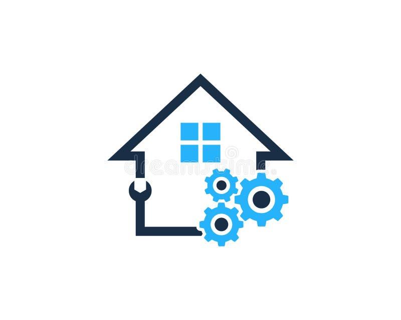 Przekładni narzędzia domu domu ikony loga projekta element ilustracja wektor