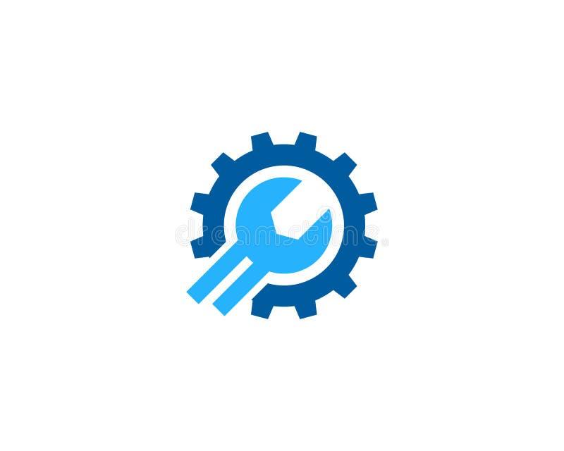 Przekładni narzędzia dylemat I naprawy ikony loga projekta element royalty ilustracja