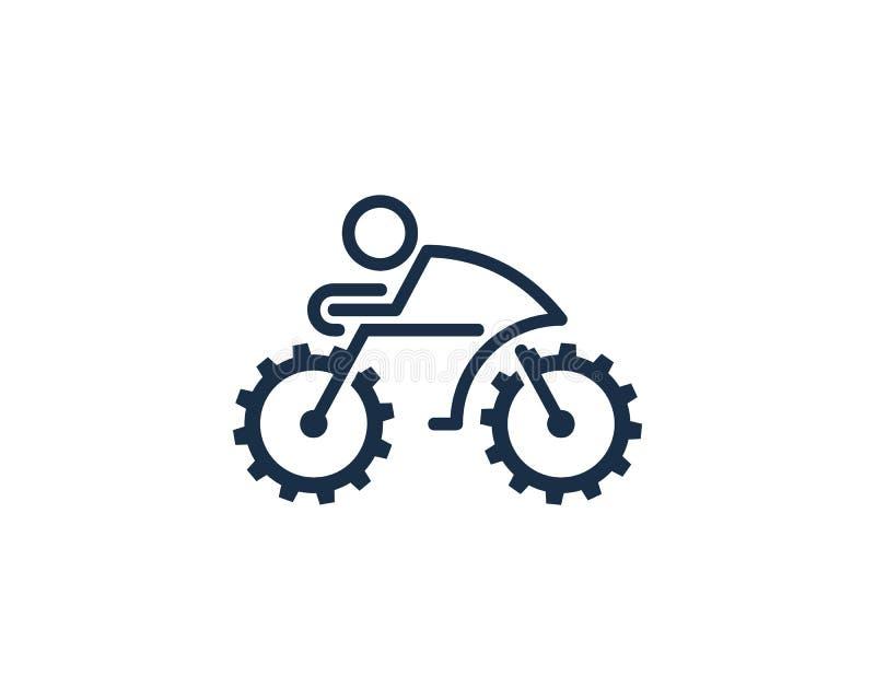 Przekładni narzędzia roweru cyklu ikony loga projekta element ilustracja wektor