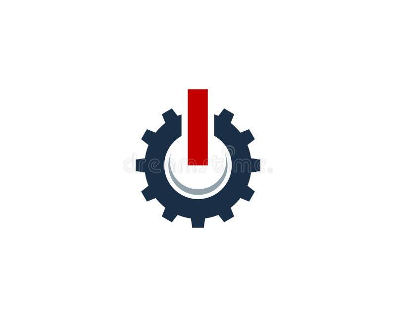 Przekładni narzędzia władzy ikony loga projekta Energetyczny element ilustracja wektor