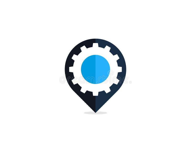 Przekładni Narzędziowej szpilki punktu ikony loga projekta element ilustracji